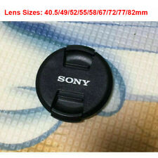For SONY Camera 40.5 49 52 55 58 67 72 77 82mm Snap on Lens Cap Cover Protector