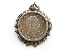 Q330    PREUSSEN 2,- Mark 1888 Tragbare Brosche in Lorbeerkranz mit Krone