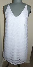 Lilly Pulitzer Natalie Dress Scallop Lace Resort White Size M W/tag