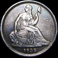 1838-O Seated Liberty Dime Silver US Coin ---- Nice Type Coin ---- #G849