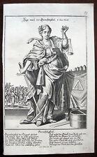 MARTIN ENGELBRECHT ALLEGORIE GERECHTIGKEIT 1710 ALLEGORY OF JUSTICE TUGEND