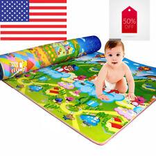 Baby Kids Child Play Mat Foam Activity Crawling Creeping Blanket Floor Pad USA