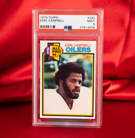 PSA MINT 9 1979 Topps #390 Earl Campbell RC Mint HOF Oilers RB