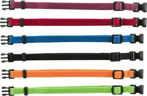 Whelping Soft puppy Collars Adjustable Washable Quick Release Buckle S-M 17-25cm