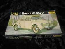 HELLER 1/43 Model Car Kit 174 RENAULT 4CV Unmade in Box 1970s Excellent
