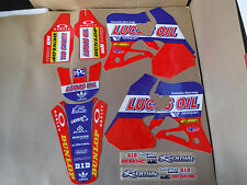 TEAM HONDA LUCAS PTS GRAPHICS 1995 1996 97 CR125 CR125R & 1995 1996 CR250R CR250