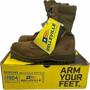 New Mens Belleville 550 ST USMC Hot Weather Steel Toe Combat Boots Size 10 R