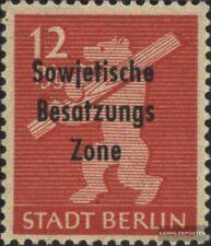 Sowjetische Zone (All.Bes.) 204u x geprüft, glatte Gummierung postfrisch 1948 SB