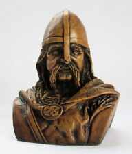 Viking Bust Pagan Norse Hand Crafted Ornament Ragnar Warrior Gift