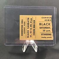Black Sabbath Convention Hall Asbury Park Concert Ticket Stub Vtg July 24 1971