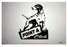POINT & CLICK English Pointer, Bird Dog DECAL