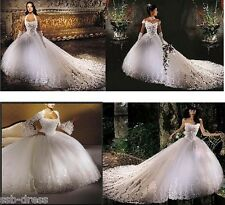Stunning Wedding Dress Custom size 2 4 6 8 10 12 14 16 18 20 22 24 26 28 30 32+