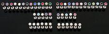 "10 14g CZ Gem 5mm Ball Piercing Labrets Monroe Lip Rings Wholesale Lot 3/8"" Bar"