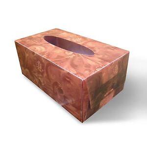 Tissue Box Cover Brown Floral Print 3D Lenticular #TBC-02#