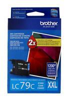 Brother LC79C XXL Cyan Ink Cartridge LC-79 Genuine New