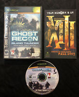 Tom Clancy's Ghost Recon Island Thunder — Cleaned/Tested! (Microsoft Xbox, 2003)