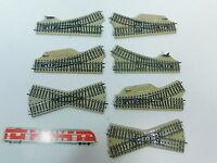 AV838-1# 7x Märklin H0/AC Handweiche/Kreuzung 5114+5123+5122 etc. M-Gleis