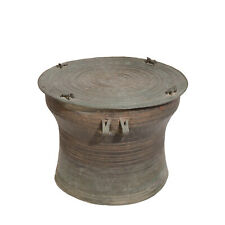 Antique Burmese Bronze Karen Frog Drum