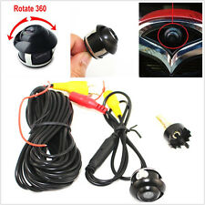 DC12V 360° Rotatable CCD Car Front Rear View Reverse Backup Parking Camera Kit