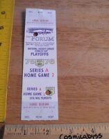 1975-76 Los Angeles Kings vs Boston Bruins Playoff Hockey ticket full