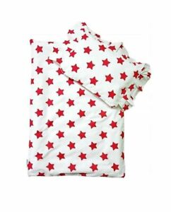 Baby Bedding Set For Strollers Baby Cradles Red Stars Blanket With Pillow