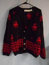 WOMENS UGLY CHRISTMAS SWEATER CARDIGAN REINDEER SMALL