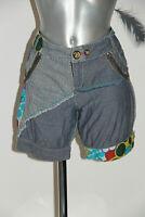 joli short patchwork en jeans DESIGUAL taille 40 fr 44i EXCELLENT 2TAT
