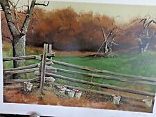 """Adolph Sehring - artist - 15 color lithograph - """"Pruning"""" - COA"""