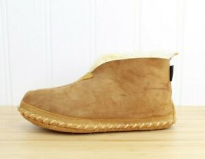 LL BEAN Men's Brown Suede Wicked Good Boot Slippers Size 8 M