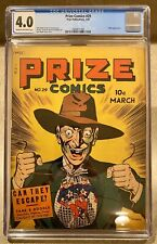 Prize Comics #29 Comic Book 1943 March 3/43 CGC Prize Publications Hitler War