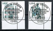 Bund BRD MiNR 2306 A  + 2307 A  gestempelt aus Abo unterer Eckrand