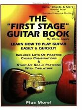 """The """"First Stage"""" Guitar Book: Learn How to Play Guitar Easily &-ExLibrary"""