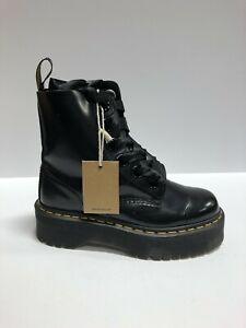 Dr. Martens, Molly Womens Combat Boot Black Size US7 M UK5