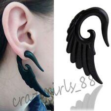 6mm 1pair Black Punk Resin Wing Ear Plug Expander Stretcher Body Piercing