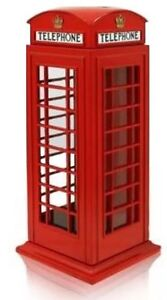 London Red Telephone Box Money Bank Coin Box  Piggy Bank London Souvenir Gift