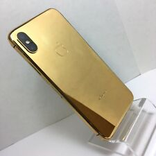 Custom 24k Gold plated iPhone X - 256Gb - (Unlocked) w/box accessories warranty