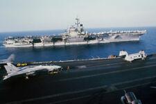 USS Saratoga and the USS John F Kennedy at Sea Photo Art Print Poster 18x12