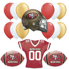San Francisco 49ers JUMBO Super Bowl 2020 Football Party Supplies Balloons- 16pc