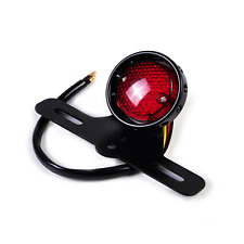 Motorcycle LED Retro Tail Brake Stop License Plate Light Harley chopper Cafe BLK