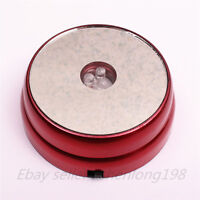 3 LED Light Round Display Stand Base For Crystal Ball Paperweight cocktail Red