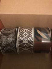 Brown Design Set Of 3 Ribbon