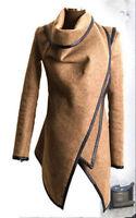 Women's Warm Wool Trench Parka Slim Long Peacoat Outwear Overcoat Coat Jacket