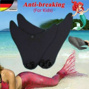 Mädchen Swimmable Kids Kostüm Meerjungfrau-Schwanz zum Schwimmen Monoflosse DHL