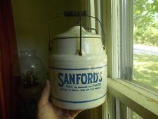 SANFORD'S INK WESTERN STONEWARE MONMOUTH,IL BIG JAR WEIR EMB CLOSURE & HANDLE