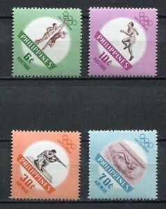 29746) Philippines 1960 MNH Neu Olympic Games Rome 4v