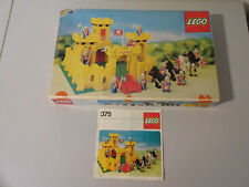 (TB) LEGO LEGOLAND 375 GELBE RITTERBURG MIT OVP & BA 100% KOMPLETT GEBRAUCHT RAR