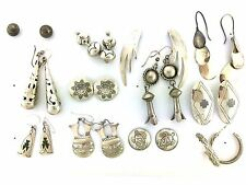 Sterling Silver Native American Turtle Sun Stamp MIXED LOT Styles Post Earrings