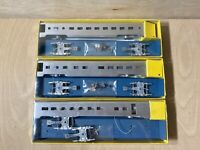 Ho Scale Ok Engines/ Streamliners Passenger Cars Metal Model Coach Lot Of 3