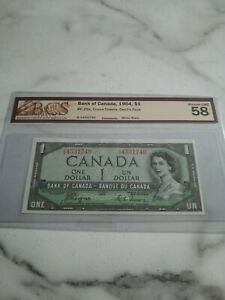 1954, $1 dollar, Canada, Devil's Face, Coyne-Towers, AU-58 graded by BCS, BC-29a