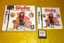 GIULIA PASSIONE BABY SITTER Nintendo Ds Versione Ufficiale Italiana ○○○ COMPLETO